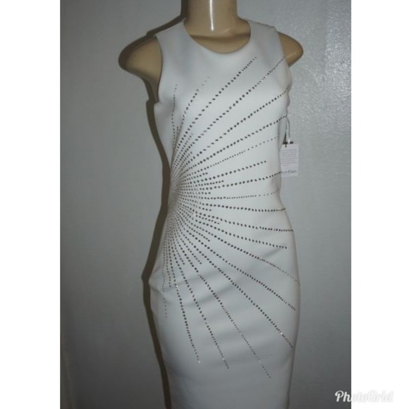 6a87cc3bda New Calvin Klein embellished scuba sheath dress